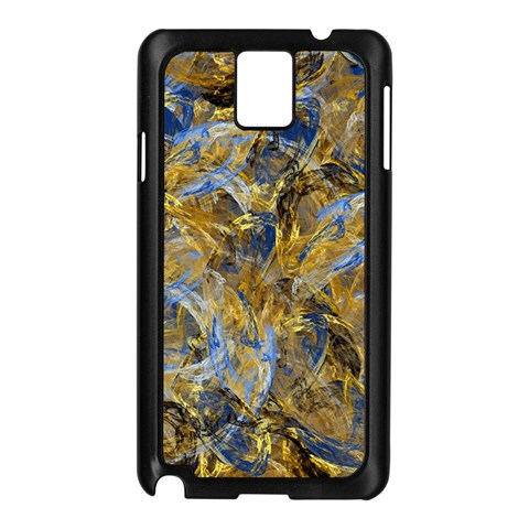 Antique Anciently Gold Blue Vintage Design Samsung Galaxy Note 3 N9005 Case (Black)