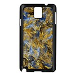 Antique Anciently Gold Blue Vintage Design Samsung Galaxy Note 3 N9005 Case (Black) Front