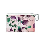 Spiral Eucalyptus Leaves Canvas Cosmetic Bag (S) Back