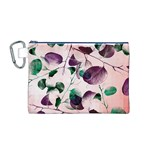 Spiral Eucalyptus Leaves Canvas Cosmetic Bag (M) Front
