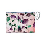 Spiral Eucalyptus Leaves Canvas Cosmetic Bag (M) Back