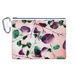 Spiral Eucalyptus Leaves Canvas Cosmetic Bag (L) Front