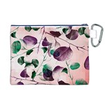 Spiral Eucalyptus Leaves Canvas Cosmetic Bag (XL) Back