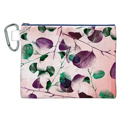Spiral Eucalyptus Leaves Canvas Cosmetic Bag (XXL)