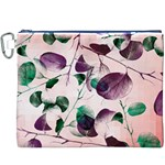 Spiral Eucalyptus Leaves Canvas Cosmetic Bag (XXXL) Front