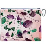 Spiral Eucalyptus Leaves Canvas Cosmetic Bag (XXXL) Back