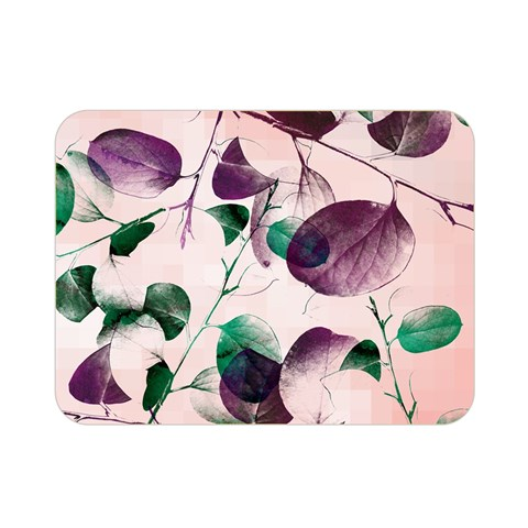 Spiral Eucalyptus Leaves Double Sided Flano Blanket (Mini)