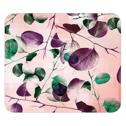 Spiral Eucalyptus Leaves Double Sided Flano Blanket (Small)