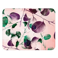Spiral Eucalyptus Leaves Double Sided Flano Blanket (Large)