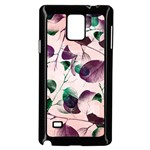 Spiral Eucalyptus Leaves Samsung Galaxy Note 4 Case (Black) Front