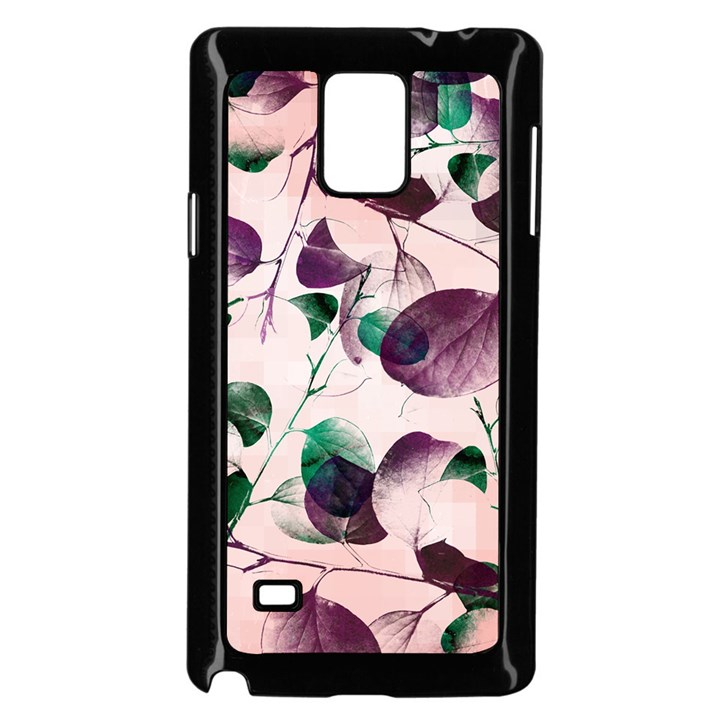Spiral Eucalyptus Leaves Samsung Galaxy Note 4 Case (Black)