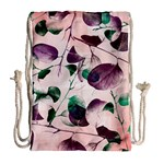 Spiral Eucalyptus Leaves Drawstring Bag (Large) Back