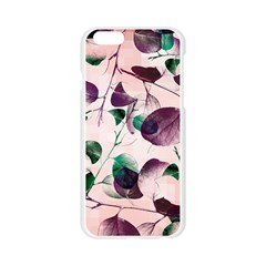 Spiral Eucalyptus Leaves Apple Seamless iPhone 6/6S Case (Transparent)