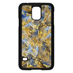 Antique Anciently Gold Blue Vintage Design Samsung Galaxy S5 Case (Black)