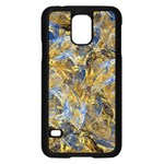 Antique Anciently Gold Blue Vintage Design Samsung Galaxy S5 Case (Black) Front