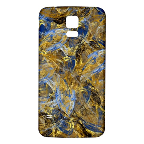 Antique Anciently Gold Blue Vintage Design Samsung Galaxy S5 Back Case (White)