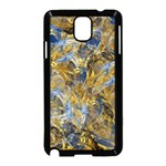 Antique Anciently Gold Blue Vintage Design Samsung Galaxy Note 3 Neo Hardshell Case (Black) Front