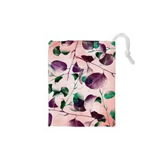 Spiral Eucalyptus Leaves Drawstring Pouches (XS)