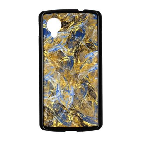 Antique Anciently Gold Blue Vintage Design Nexus 5 Case (Black)
