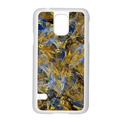 Antique Anciently Gold Blue Vintage Design Samsung Galaxy S5 Case (White)
