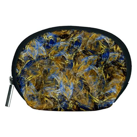 Antique Anciently Gold Blue Vintage Design Accessory Pouches (Medium)