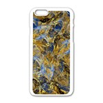Antique Anciently Gold Blue Vintage Design Apple iPhone 6/6S White Enamel Case Front
