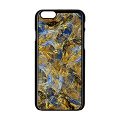 Antique Anciently Gold Blue Vintage Design Apple iPhone 6/6S Black Enamel Case