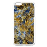 Antique Anciently Gold Blue Vintage Design Apple iPhone 6 Plus/6S Plus Enamel White Case Front