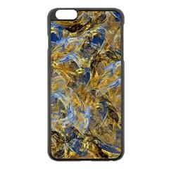 Antique Anciently Gold Blue Vintage Design Apple Iphone 6 Plus/6s Plus Black Enamel Case