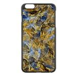 Antique Anciently Gold Blue Vintage Design Apple iPhone 6 Plus/6S Plus Black Enamel Case Front
