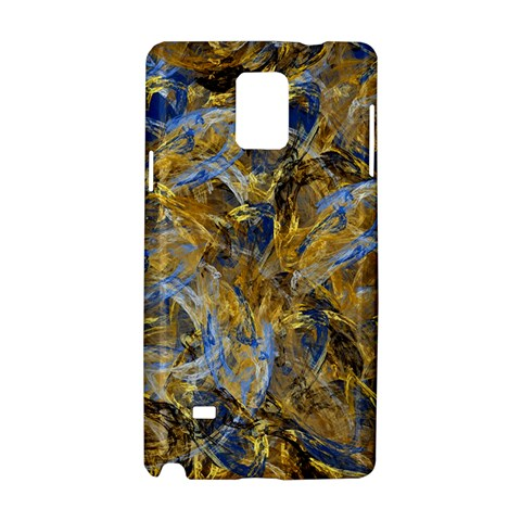 Antique Anciently Gold Blue Vintage Design Samsung Galaxy Note 4 Hardshell Case