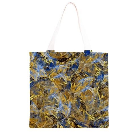 Antique Anciently Gold Blue Vintage Design Grocery Light Tote Bag