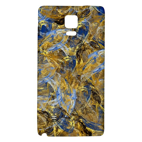 Antique Anciently Gold Blue Vintage Design Galaxy Note 4 Back Case