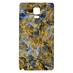 Antique Anciently Gold Blue Vintage Design Galaxy Note 4 Back Case Front