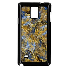 Antique Anciently Gold Blue Vintage Design Samsung Galaxy Note 4 Case (black)