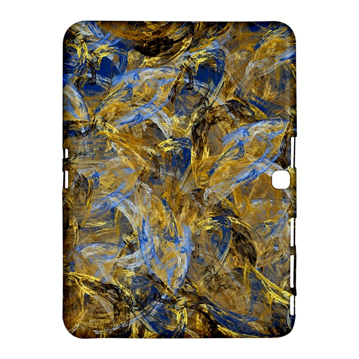 Antique Anciently Gold Blue Vintage Design Samsung Galaxy Tab 4 (10.1 ) Hardshell Case