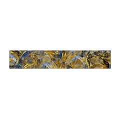 Antique Anciently Gold Blue Vintage Design Flano Scarf (mini)