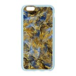 Antique Anciently Gold Blue Vintage Design Apple Seamless iPhone 6/6S Case (Color) Front