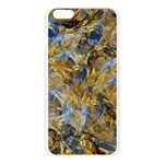 Antique Anciently Gold Blue Vintage Design Apple Seamless iPhone 6 Plus/6S Plus Case (Transparent) Front