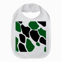 Green Black Digital Pattern Art Bib