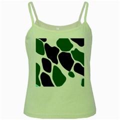 Green Black Digital Pattern Art Green Spaghetti Tank
