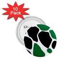 Green Black Digital Pattern Art 1.75  Buttons (10 pack) Front