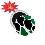 Green Black Digital Pattern Art 1.75  Magnets (10 pack)  Front