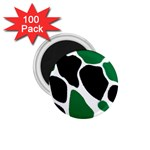 Green Black Digital Pattern Art 1.75  Magnets (100 pack)  Front