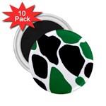Green Black Digital Pattern Art 2.25  Magnets (10 pack)  Front