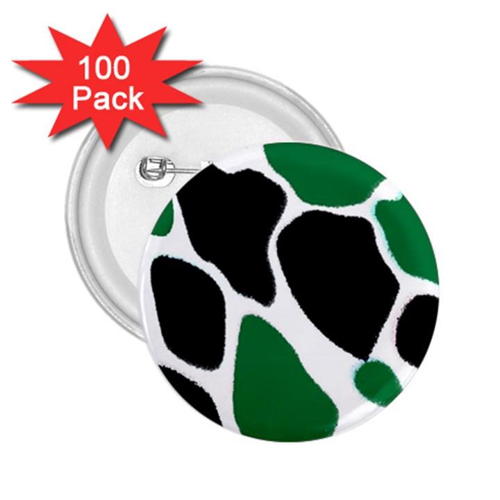 Green Black Digital Pattern Art 2.25  Buttons (100 pack)