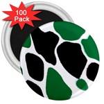 Green Black Digital Pattern Art 3  Magnets (100 pack) Front