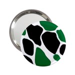 Green Black Digital Pattern Art 2.25  Handbag Mirrors Front