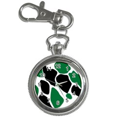 Green Black Digital Pattern Art Key Chain Watches