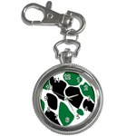 Green Black Digital Pattern Art Key Chain Watches Front